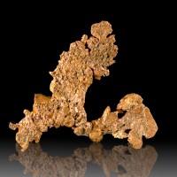 "2.4"" BrightOrange Flattened Float COPPER Dendritic Crystals Ajo Arizona for sale"
