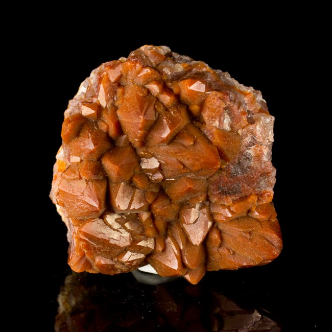 """3.2"""" Vibrant Brick RED QUARTZ Sharp Terminated Crystals to 1.1"""" Morocco for sale"""