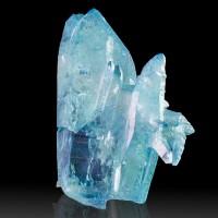 """4.1"""" Bright TurquoiseBlue AQUA AURA QUARTZ Lrg Terminated Crystals Peru for sale"""