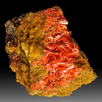 "3.4"" Sharp Terminated Rosy Red CROCOITE Square Crystals Adelaide Mine for sale"