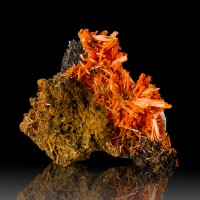 "2.8"" Terminated Hollow Fiery Red CROCOITE Square Crystals Adelaide Mine for sale"