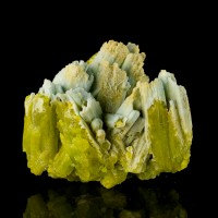 "2.7"" Hoppered Ice Blue Crystals PLUMBOGUMMITE Pseudo PYROMORPHITE China for sale"
