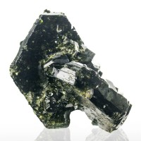 "2.7"" Forest Green EPIDOTE Tabular Pseudo-Hexagonal Crystals Pakistan for sale"