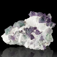 """5.8"""" Shiny Purple & Green Octahedral FLUORITE Crystals Pristine China for sale"""