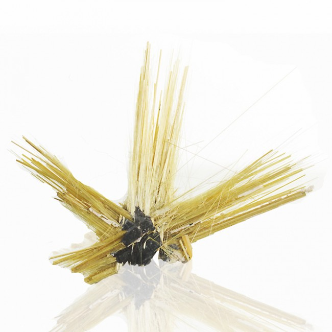 "2"" Metallic Golden Radiating RUTILE+HEMATITE SUNBURST Crystals Brazil for sale"