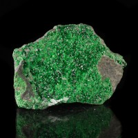 """3.1"""" UVAROVITE Twinkling Emerald Green Crystals to 1mm on Matrix Russia for sale"""