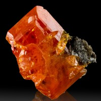 """.8"""" Very Colorful Orange Red Gemmy WULFENITE Crystal Red Cloud Mine AZ for sale"""