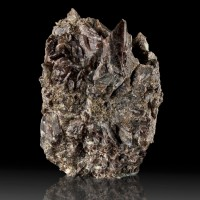 """3.2"""" Sharp Shiny Dark Chocolate Brown Bladed AXINITE Crystals Ica Peru for sale"""