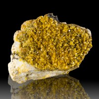 "3.5"" Sparkling Gem MIMETITE SharpGoldenYellow Crystals Hat Yai Thailand for sale"