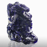 "1.5"" Mirror-Faced AZURITE Sharp Terminated Dazzling Crystals Milpillas for sale"