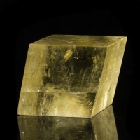 "3.4"" Yellow-Gold ICELAND SPAR Polished Double Refracting Calcite Mexico for sale"