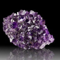 "4.2"" Shiny Grape Jelly Purple AMETHYST Crystals to .7"" Artigas Uruguay for sale"
