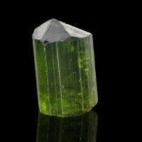 """.6"""" 20ct Gemmy Clear Grass Green Terminated TOURMALINE CRYSTAL Brazil for sale"""
