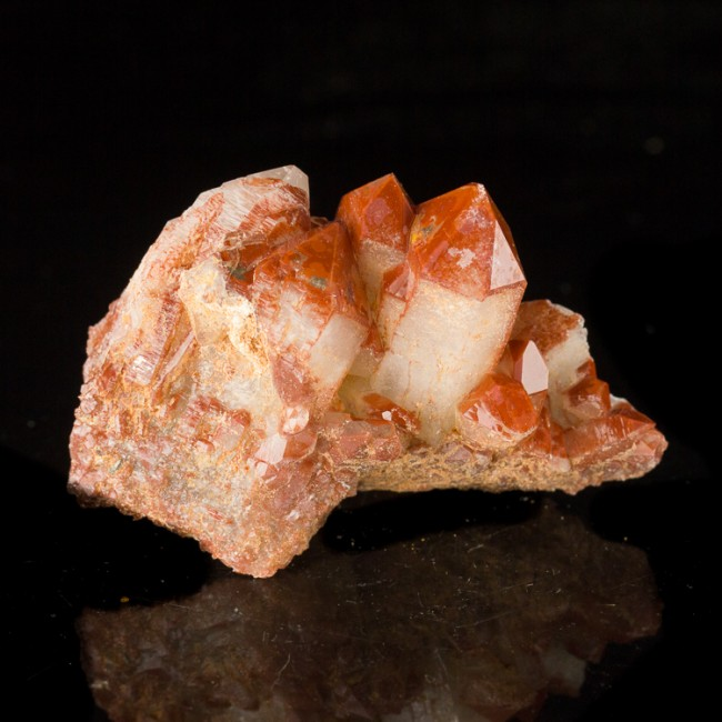 "2.4"" Colorful Cardinal RED QUARTZ Crystals Orange River South Africa for sale"