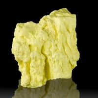 "3"" Sunshine Yellow DRIPPING SULFUR STALACTITES Blue Fire Volcano Java for sale"
