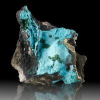 "5.1"" Botryoidal Turquoise CHRYSOCOLLA w-MALACHITE & HETEROGENITE Congo for sale"