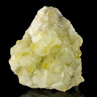 "4.1"" Green-Yellow DATOLITE Crystals Sharp Gemmy Lustrous Charcas Mexico for sale"