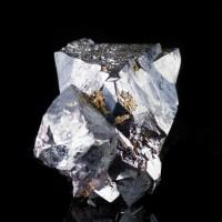 "1.6"" MetallicSilver CUPRITE Sharp Lustrous Crystals to 1.4"" Rubtsovskoe M Russia"