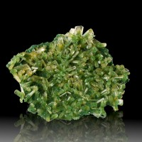 "3.8"" Sharp Grass Green Gem Clear SELENITE CRYSTALS Lubin Mine Poland for sale"