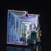"2.8"" Brite Metallic Blue-Yellow-Magenta BISMUTH Hopper Crystals England for sale"