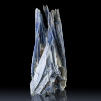 "5.2"" Blueberry Blue KYANITE Terminated Bladed Crystals w-Quartz Brazil for sale"