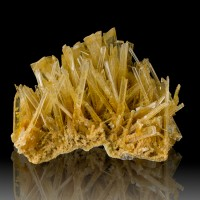 "3.9"" Clear Light Yellow SELENITE Terminated Porcupine Crystals Rudya Poland"