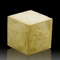 "2.3"" Sharp PYRITE CUBE SharpSingle Crystal MirrorBrite BrassyGold Spain for sale"