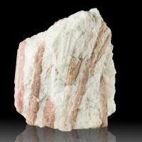 """4.5"""" Milky Quartz Shot Thru by Magenta PINK TOURMALINE Crystals Brazil for sale"""