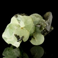 "3.1"" Robust Green PREHNITE Crystal Balls to 1"" Diameter on Epidote Mali for sale"