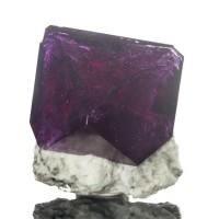 "2.5"" Flashy Fruity Grape Violet PURPLE ALUM Octahedral Crystal Poland for sale"