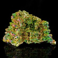 "3.2"" Wild Colors Skeletal BISMUTH Crystals Stair Step Formation Germany for sale"