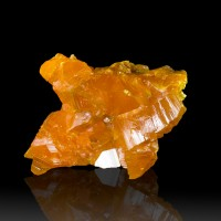 "1.6"" Flamboyant Orange ORPIMENT Crystals to .8"" Twin Creeks Mine Nevada for sale"