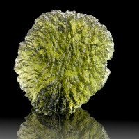 "1.1"" 35ct Translucent Gemmy Vivid Green Celestial MOLDAVITE Czech Rep for sale"