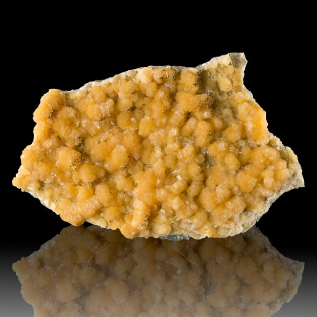 "4.9"" Vivid Fruity Orange STILBITE Crystals +Sparkling PYRITE New Jersey for sale"