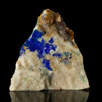 "3.8"" LINARITE Royal Blue Crystals on Quartz Blanchard Mine New Mexico for sale"