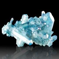 """4.2"""" Transparent Iridescent Gem TurquoiseBlue AQUA AURA QUARTZ Crystals for sale"""