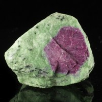 "3.1"" 521g WATERMELON RUBY Red Ruby Crystal in Green Zoisite Tanzania for sale"