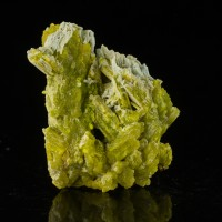 "2.5"" Skeletal Ice Blue Crystals PLUMBOGUMMITE Pseudo PYROMORPHITE China for sale"