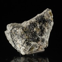 "4.6"" Rare POLYLITHIONITE Crystals +Aegerine +Analcime MSH Mt.St.Hilaire for sale"