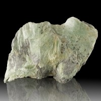 "7.1"" Gleaming Mint Green Foliated TALC World's Softest Mineral Vermont for sale"