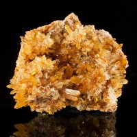 "3.7"" Orange & Clear CREEDITE Crystals in Glittery Spiky Mounds Mexico for sale"