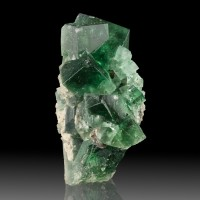 "1.7"" Blue Green Penetrating Twin FLUORITE Sharp Crystals Rogerley M UK for sale"