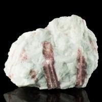 """4.4"""" Blue Cleavelandite Shot Thru w-Magenta TOURMALINE Crystals Brazil for sale"""