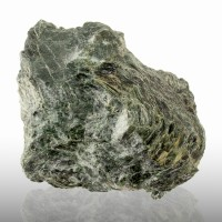 "5.3"" ANTIGORITE Dark Green Twisted Fibrous Crystals Var. of Asbestos VT for sale"