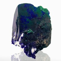 "1.1"" Mirror Face AZURITE Sharp Terminated Crystal w-Malachite Milpillas for sale"