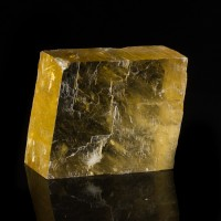 "4.7"" Vivid YELLOW ICELAND SPAR Double Refracting Calcite Crystal Mexico for sale"
