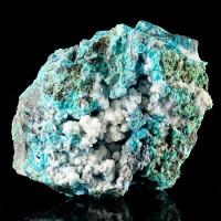 "5.2"" Brilliant Turquoise CHRYSOCOLLA with Black Tenorite&Calcite Mexico for sale"