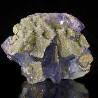 "2.1"" Blue Violet Cubic FLUORITE CRYSTALS +Sparkly Pyrite+Quartz Spain for sale"