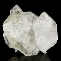 "2.2"" HERKIMER DIAMOND Quartz Cluster 12 Crystals to 2.3"" +Rainbows NY for sale"