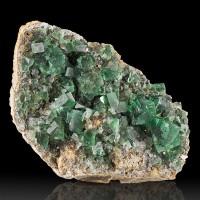"5.5"" WetLook Clear Gem Green FLUORITE Crystals +Galena Rogerley Mine UK for sale"
